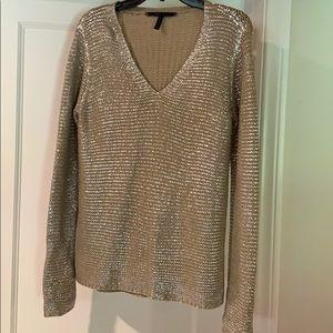 BCBG silver sweater